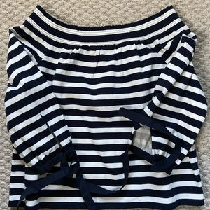 Jcrew striped 3/4 sleeve top